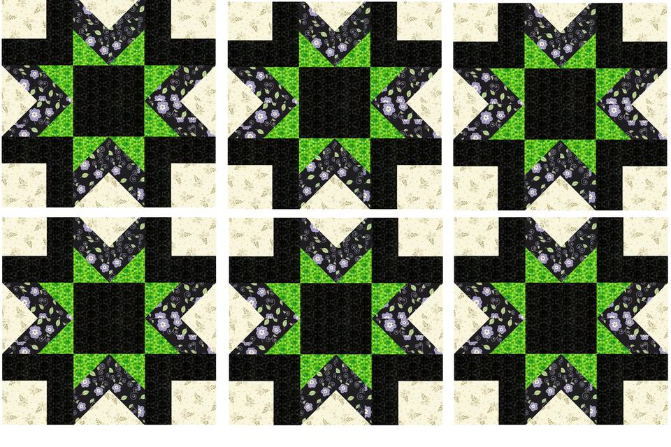 Morning Star Quilt Block Pattern