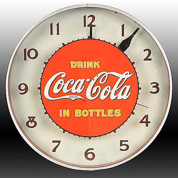 Lackner Coca-Cola Electric Light-Up Clock
