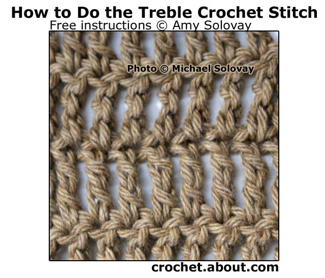 Treble Crochet Stitch Worked in Rows