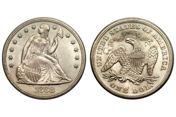 Seated Liberty Silver Dollar Uncirculated