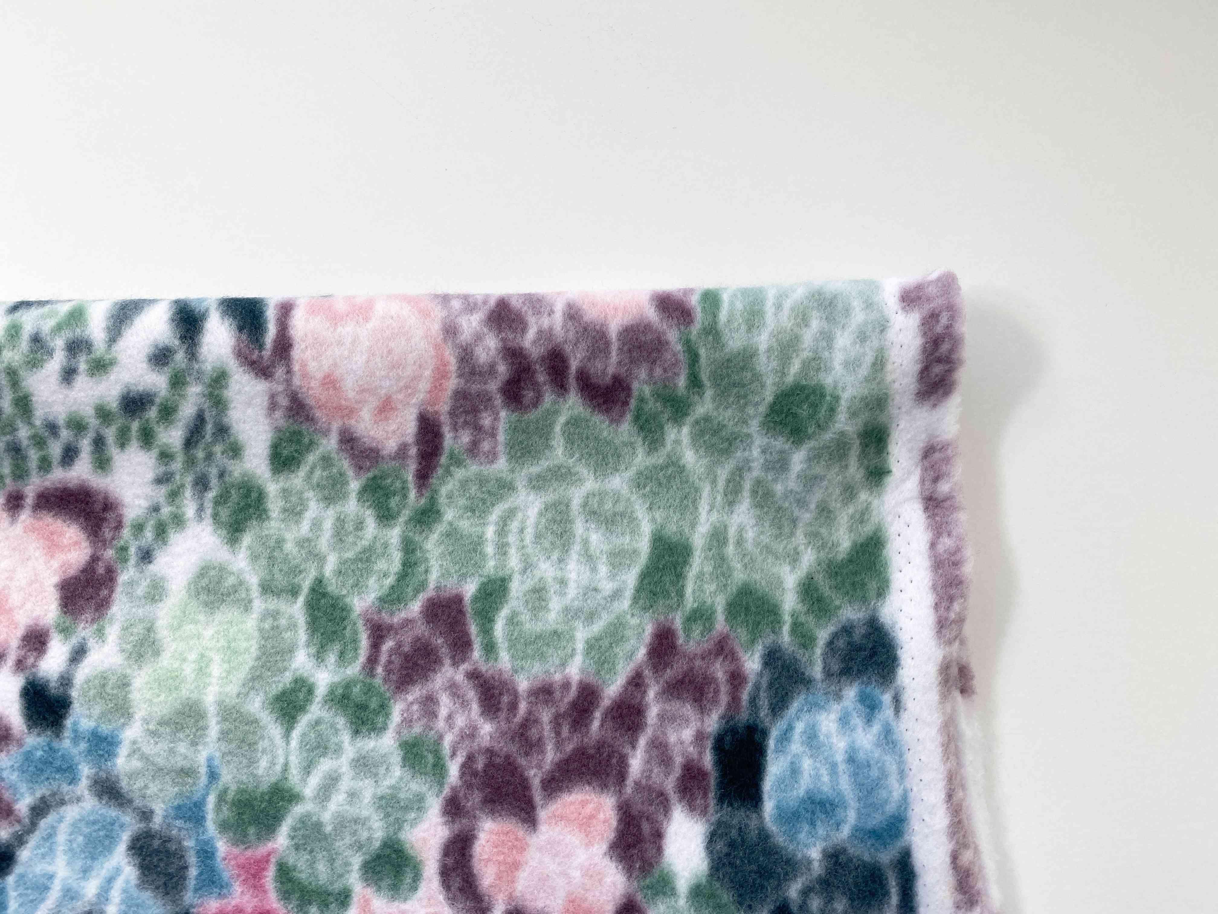 Folded fleece fabric