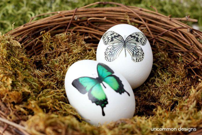 DIY Tempoary Tattoo Easter Eggs