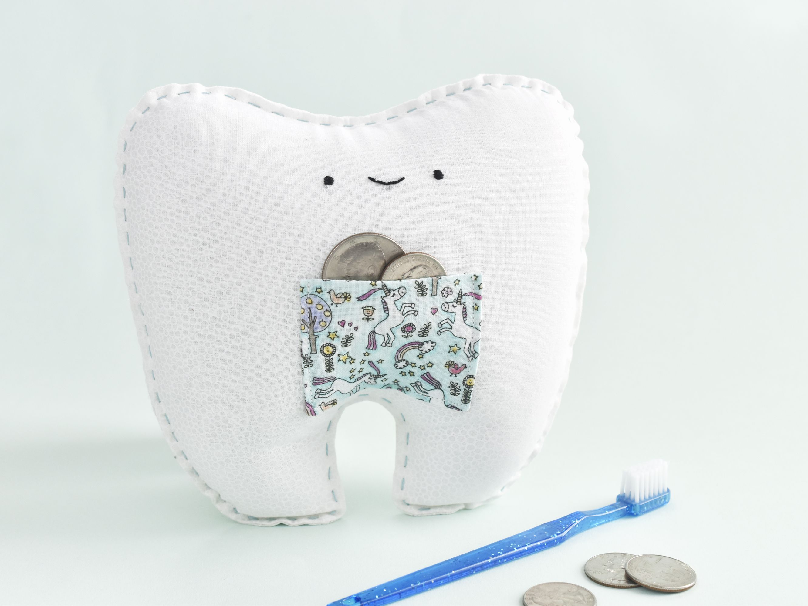 Tooth Fairy Pillow with Tooth Chart