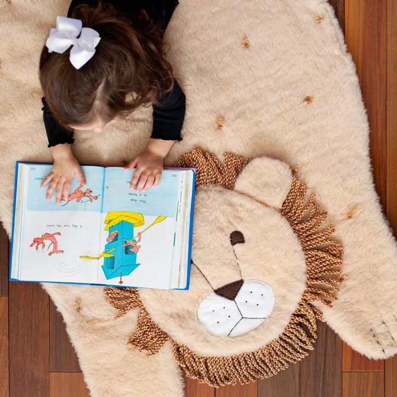 High angle view of a DIY Plush Animal Mat