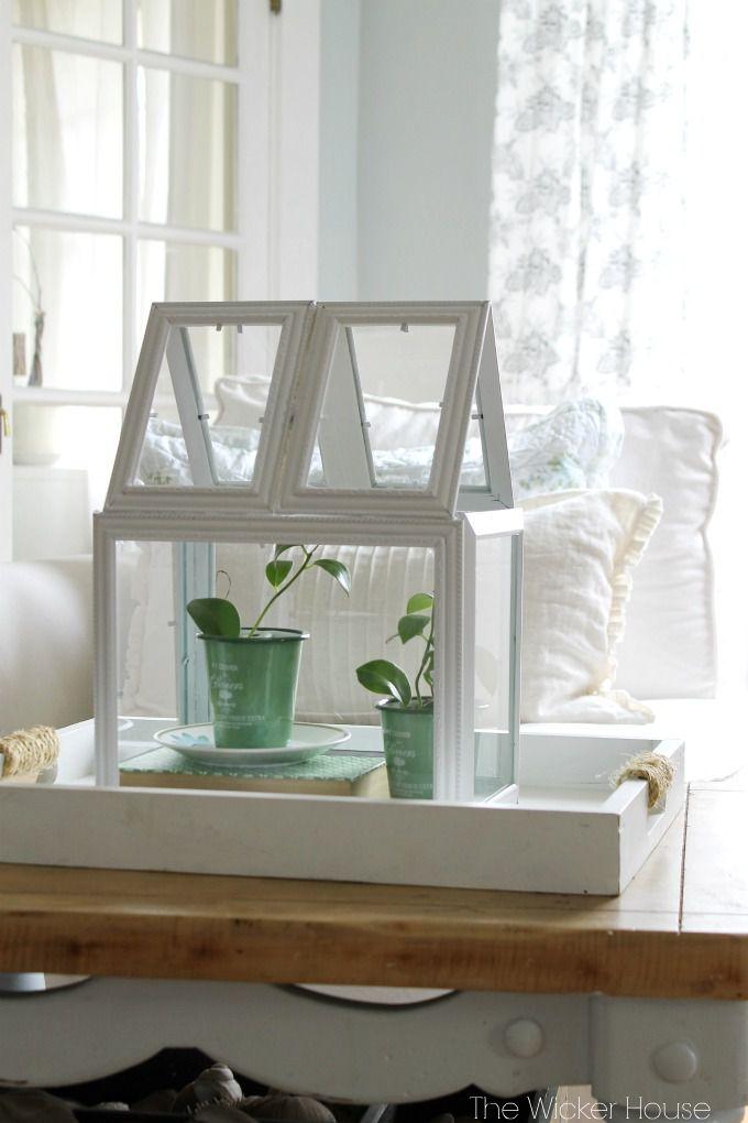 DIY picture frame terrarium