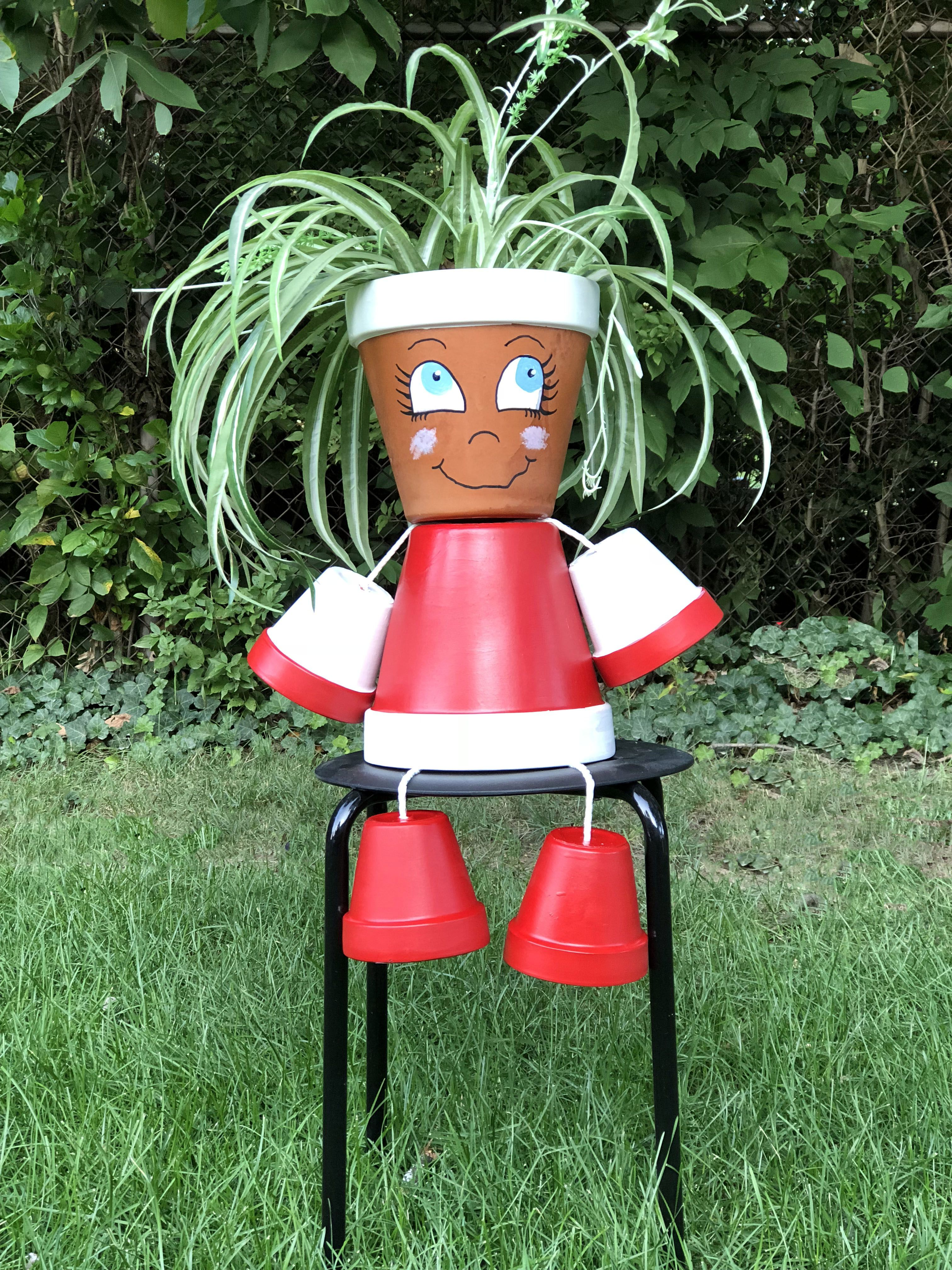 How to Make a Flower Pot Person for Your Garden