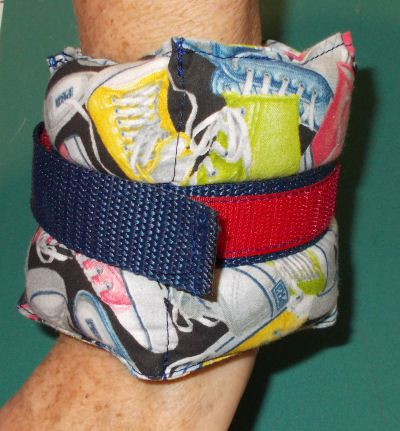 DIY wrist or ankle weight
