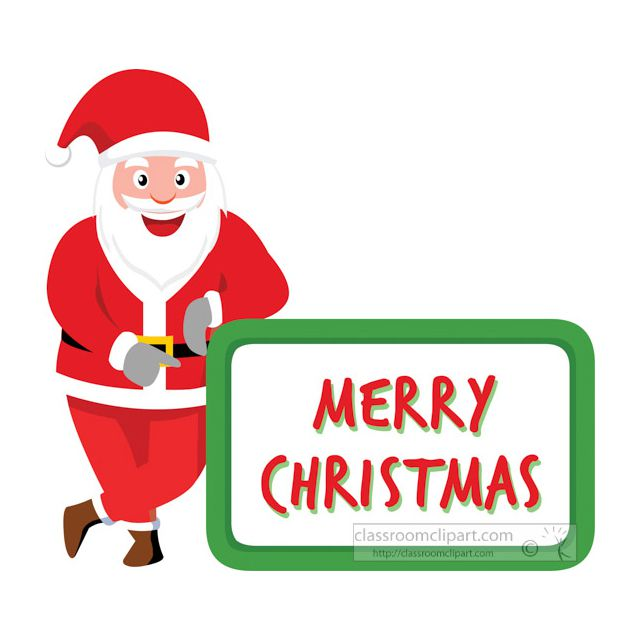 Clip Art Christmas.Free Santa Clipart Images For Your Holiday Projects