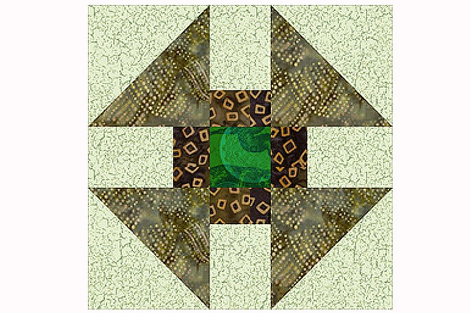 Greek Cross Quilt Block Pattern