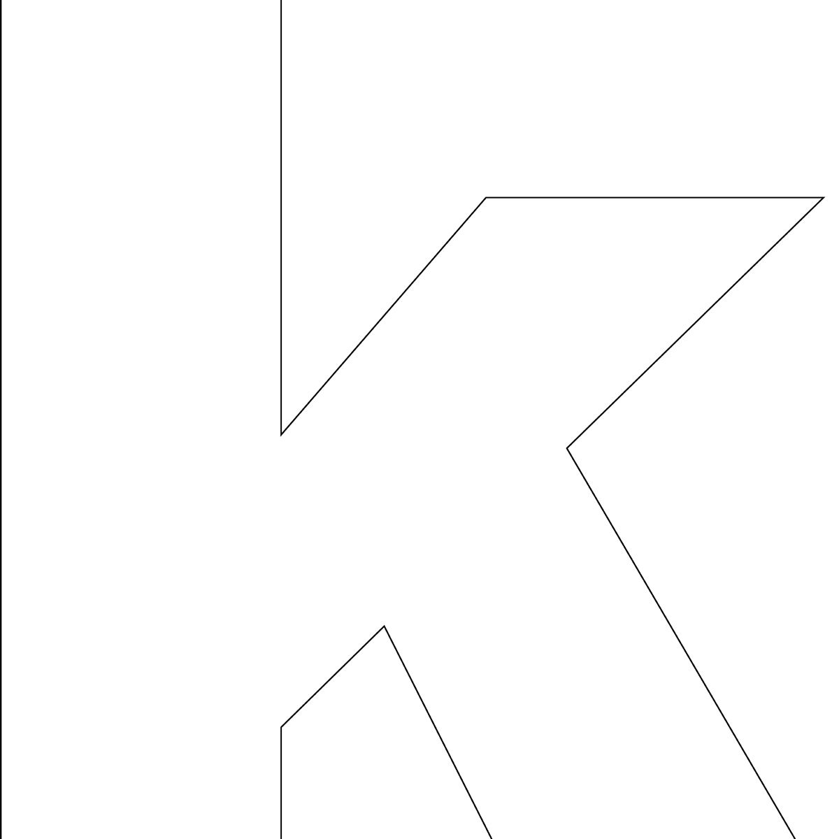 Free Printable k Template
