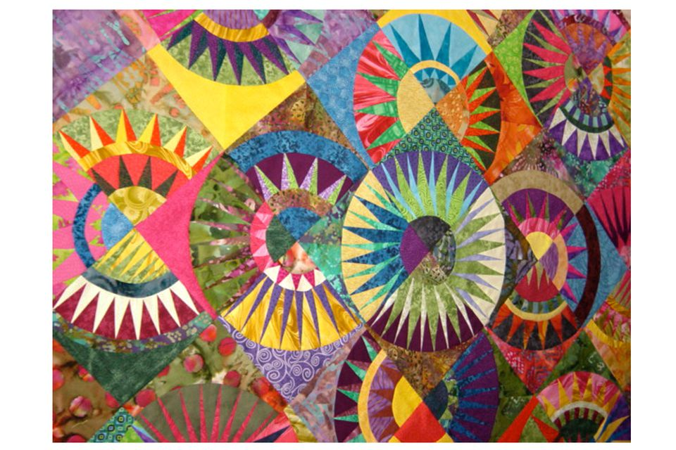 Spiked with Color, a New York Beauty Quilt