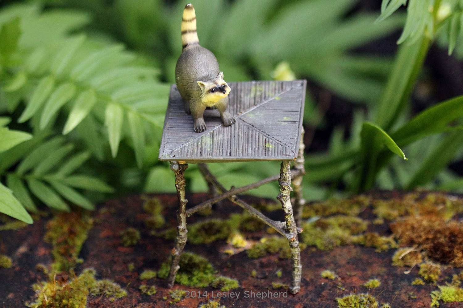 Miniature Furniture You Can Make For A Dollhouse Or Fairy Garden Wiring Kit Rustic Dolls House Table Made From Twigs