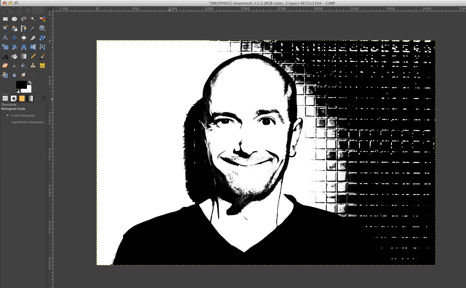How To Make A Digital Stamp Portrait In Gimp