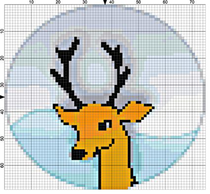 quickpoint reindeer needlepoint project