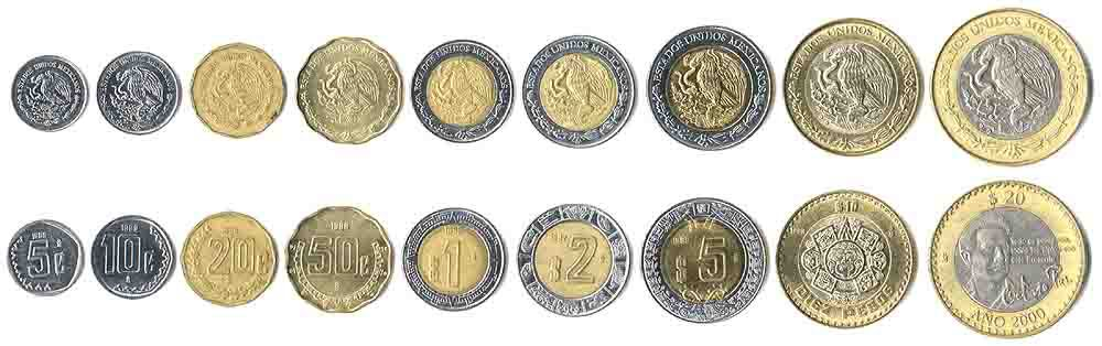 These coins are currently circulating in Mexico as money.