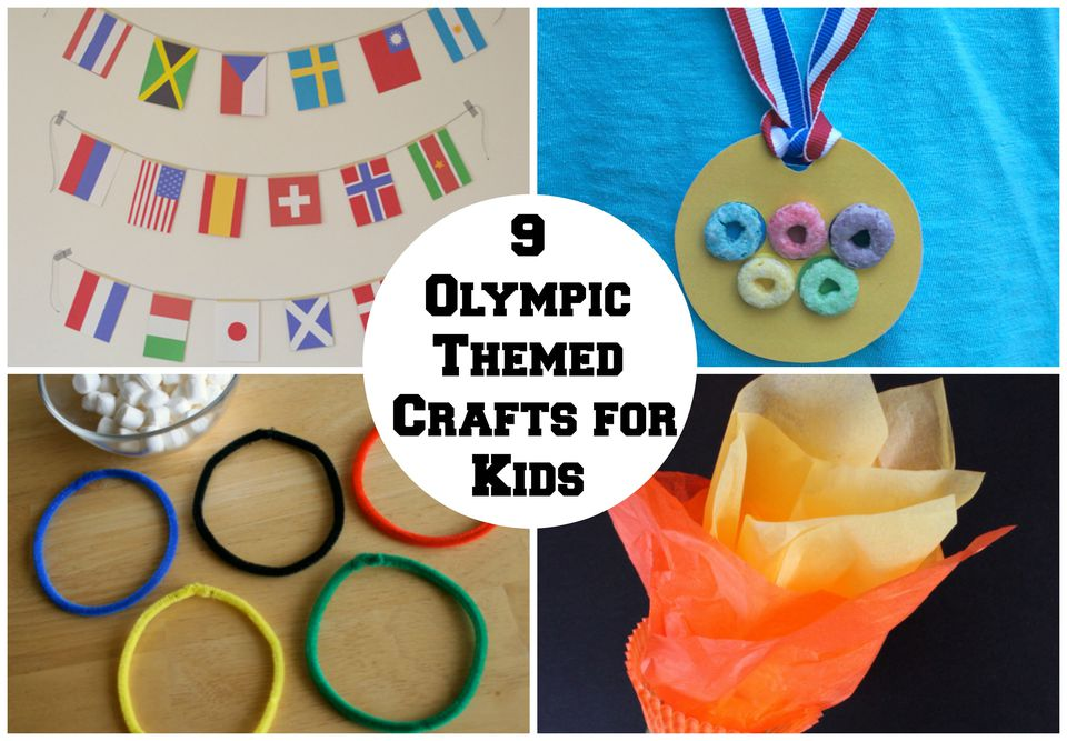9 Olympic Themed Crafts for Kids
