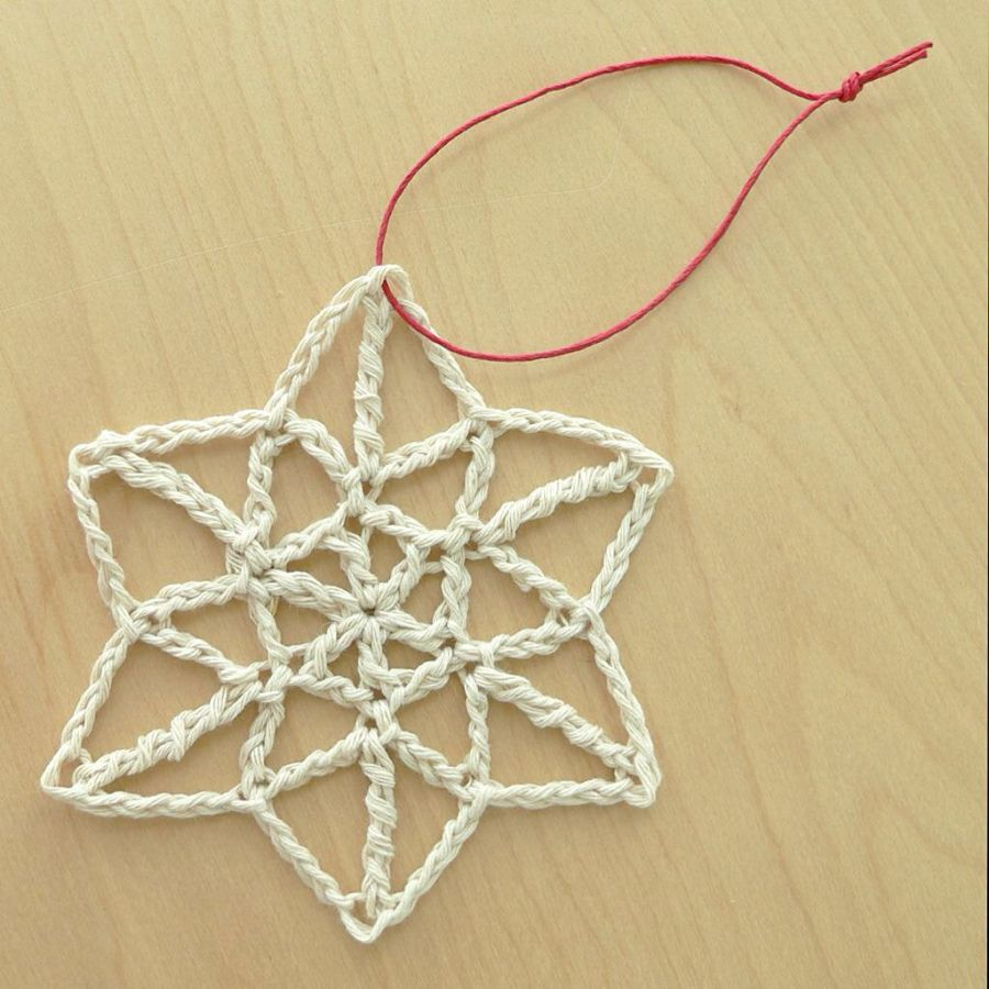 Crochet Snowflake Ornament Free Pattern