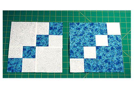 Dual Double Four Patch Quilt Block Pattern