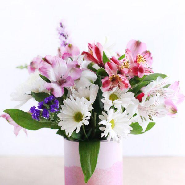 DIY Mini Paint Can Glitter Vase