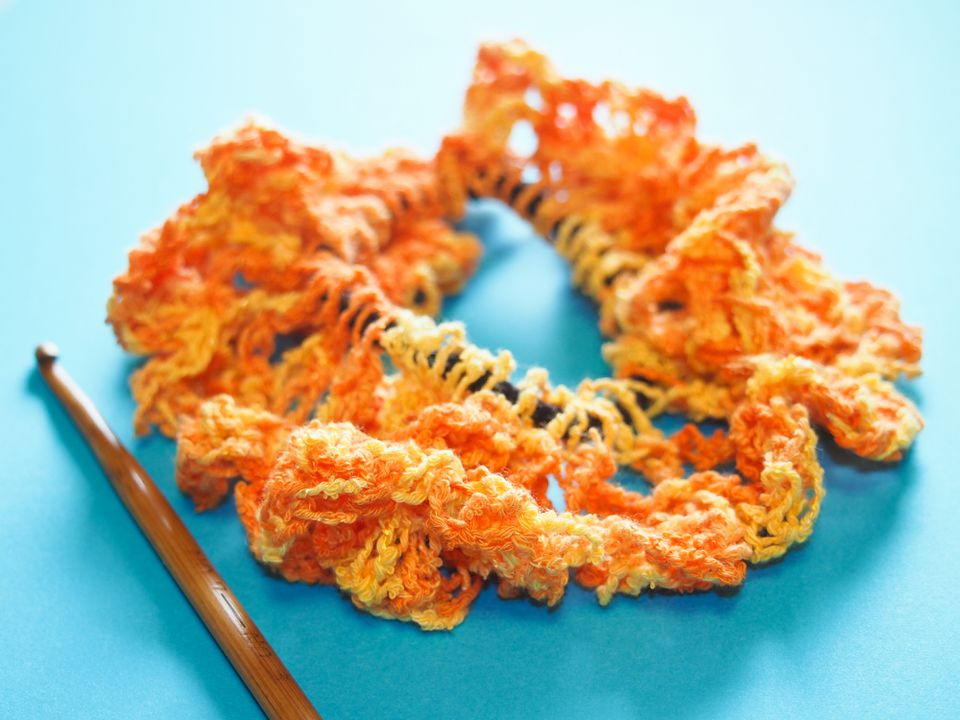 Crochet Hair Scrunchie