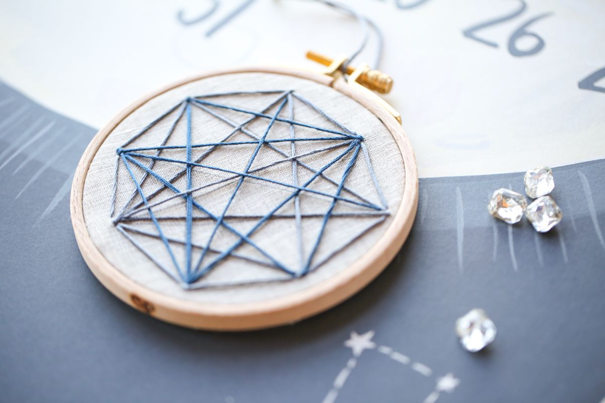 Geometric Stellar Embroidery Pattern