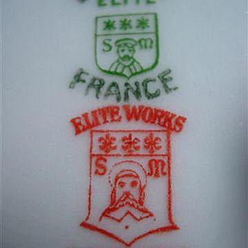 Elite Works Bawo & Dotter Red Decorating & Green White Ware Marks
