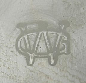 ca. post-1940s Westmoreland Glass Company Mark