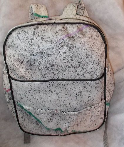 Completed self-sewn backpack