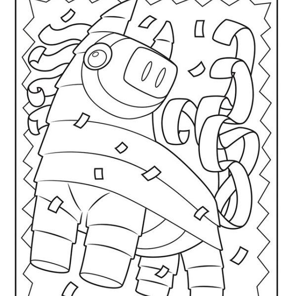 Coloring Pages Mexican Coloring 014 (Countries > Mexico) - free ... | 599x599