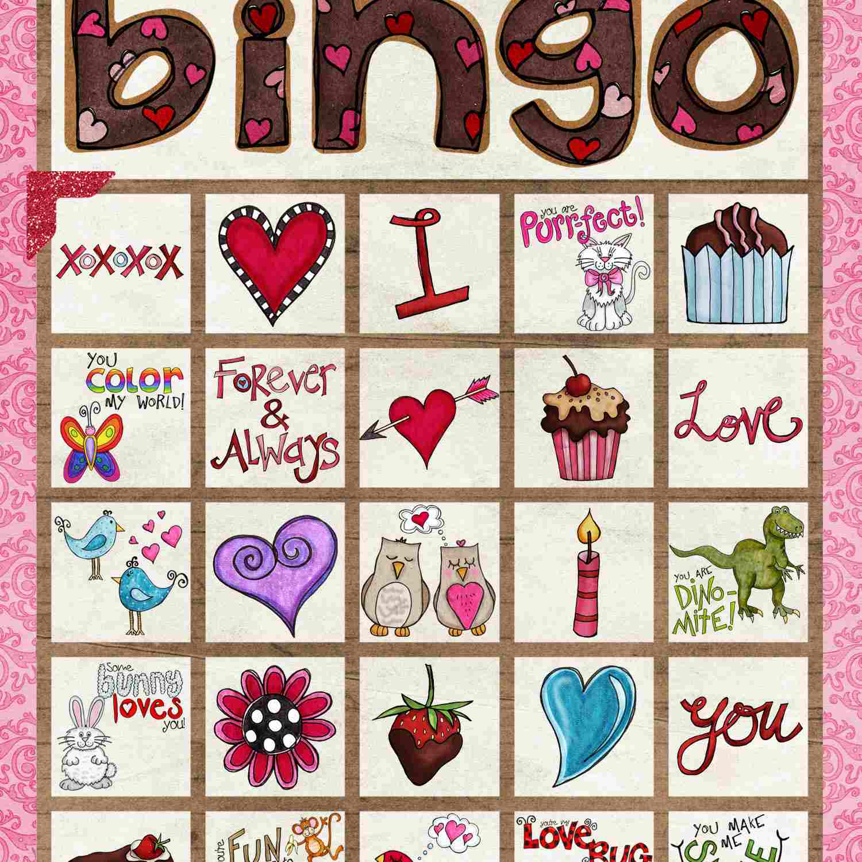 12 Sets Of Free Printable Valentine Bingo Cards