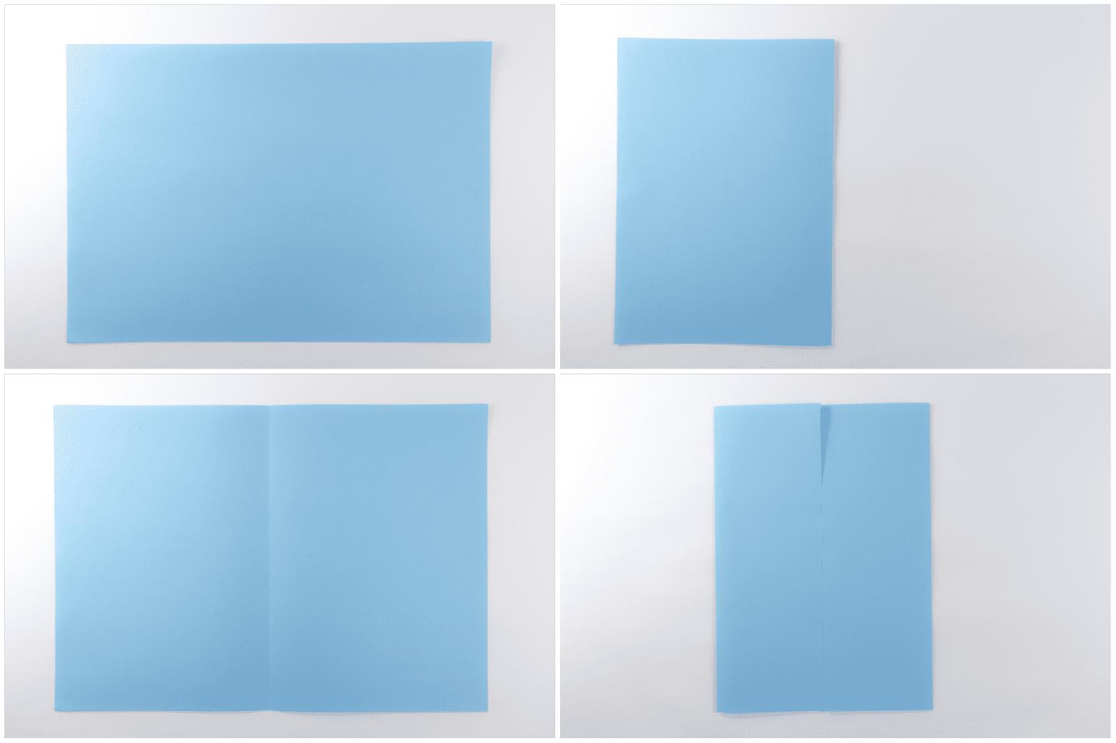 easy rectangular origami box step 1