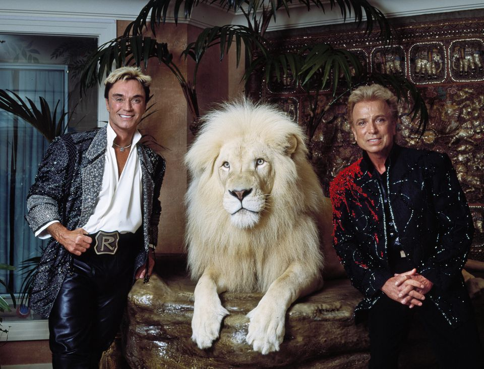 Las Vegas, Nevada headlining illusionists Siegfried Roy (Siegried Fischbacher and Roy Horn) in their