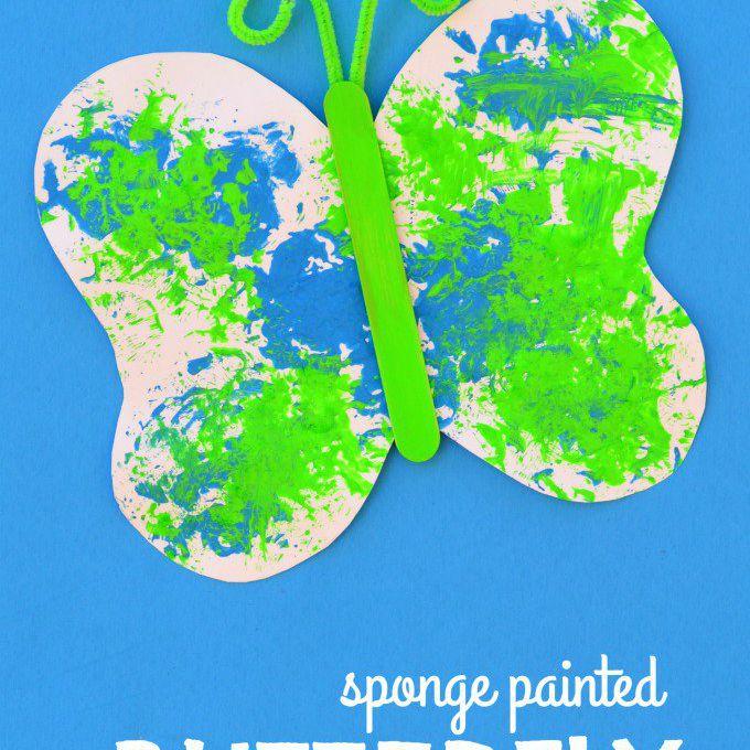 sponge painted butterfly