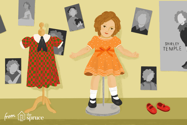 Illustration of a Shirley Temple doll