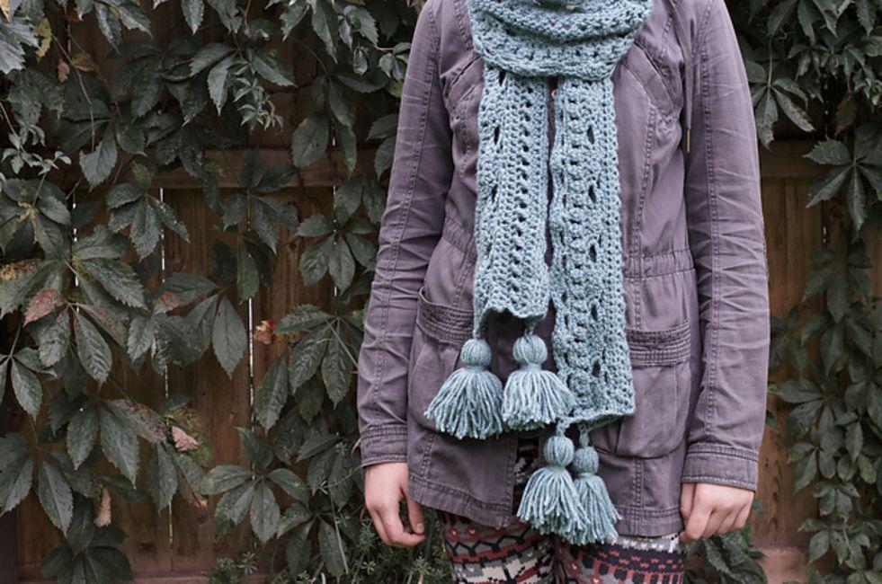 Tassel Scarf Free Crochet Pattern