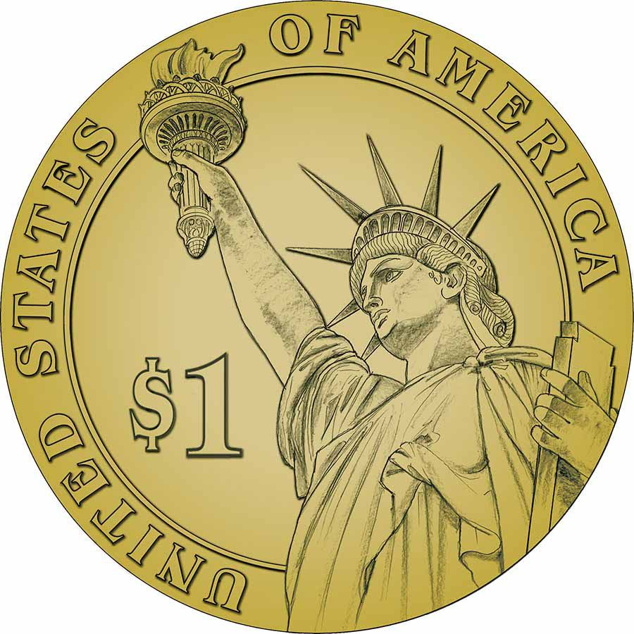 Presidential Dollars Liberty Reverse