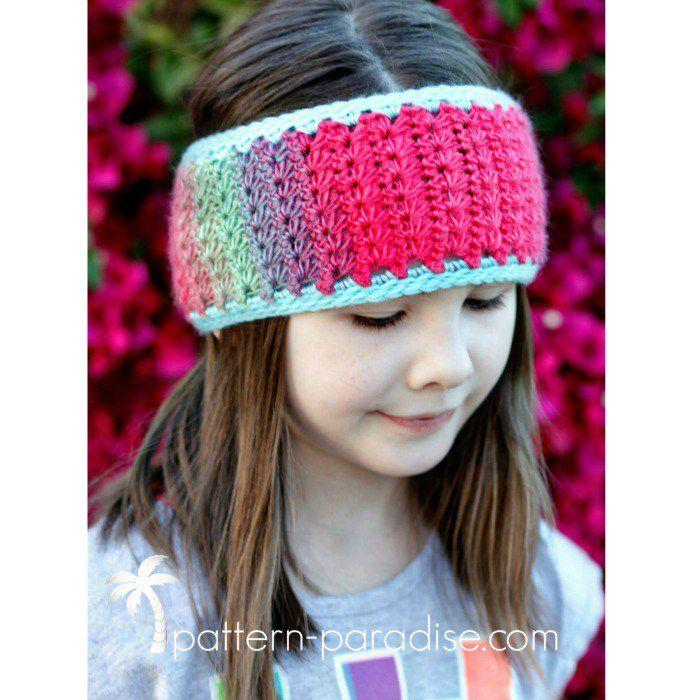 Star Stitch Earwarmer Free Crochet Pattern