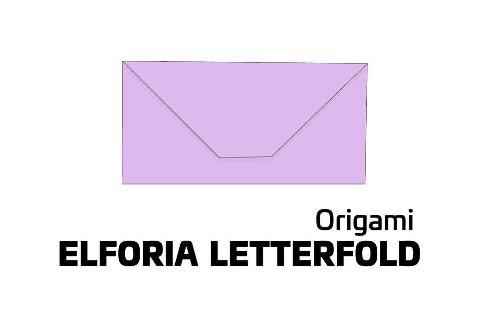 Origami elforia letterfold tutorial 01
