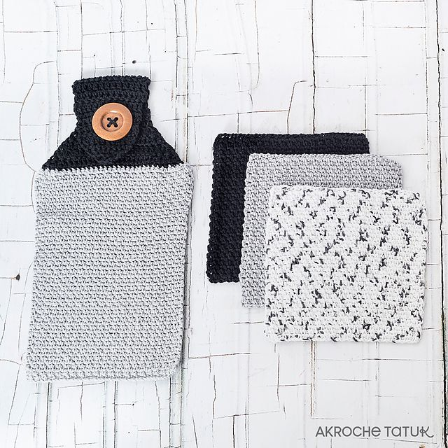 Crochet Dishcloth and Hand Towel Set