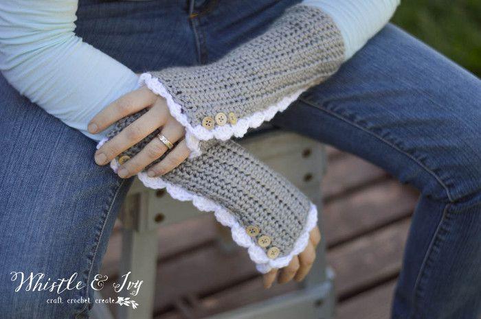 Vintage Arm Warmers Free Crochet Pattern