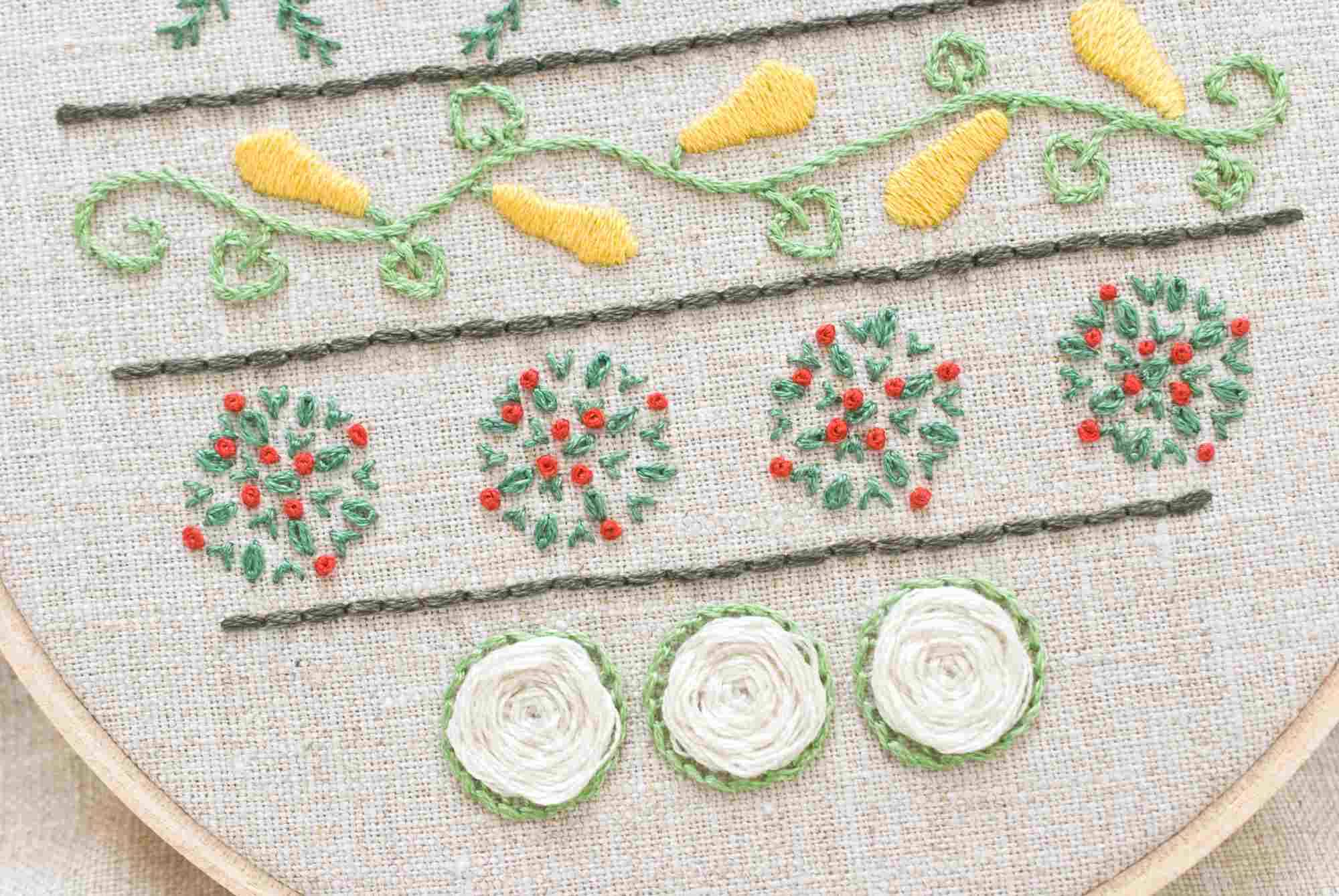 vegetable garden embroidery sampler pattern - Embroidery Garden