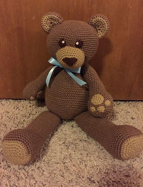 Dawson The Teddy Bear Crochet Pattern