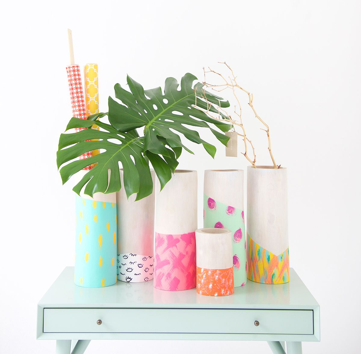 DIY Painted Wooden Vase