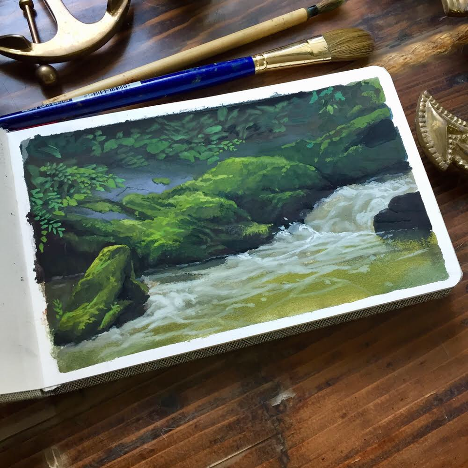 still life landscape step by step painting tutorial
