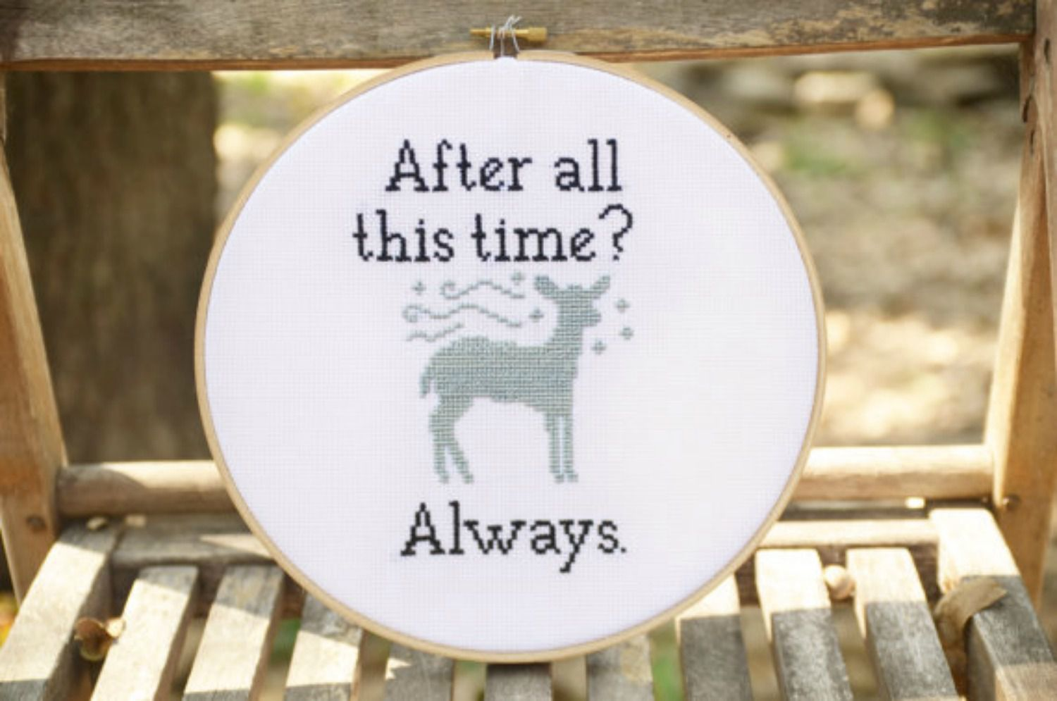 after all this time Patronus cross stitch