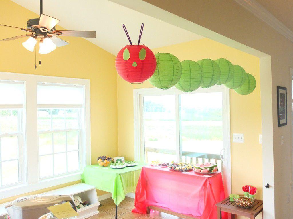 caterpillar themed birthday party