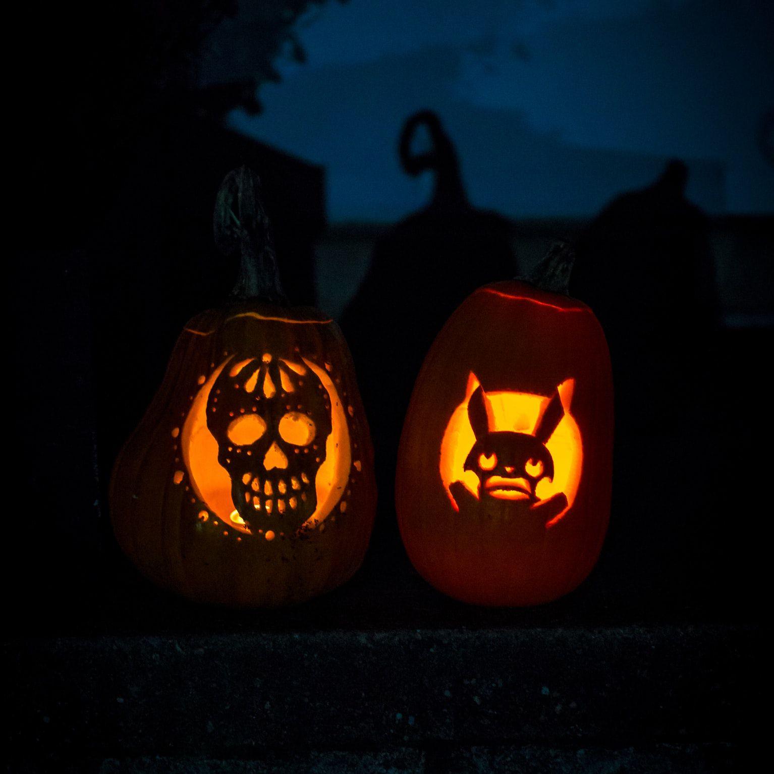 happy bunny pumpkin carving