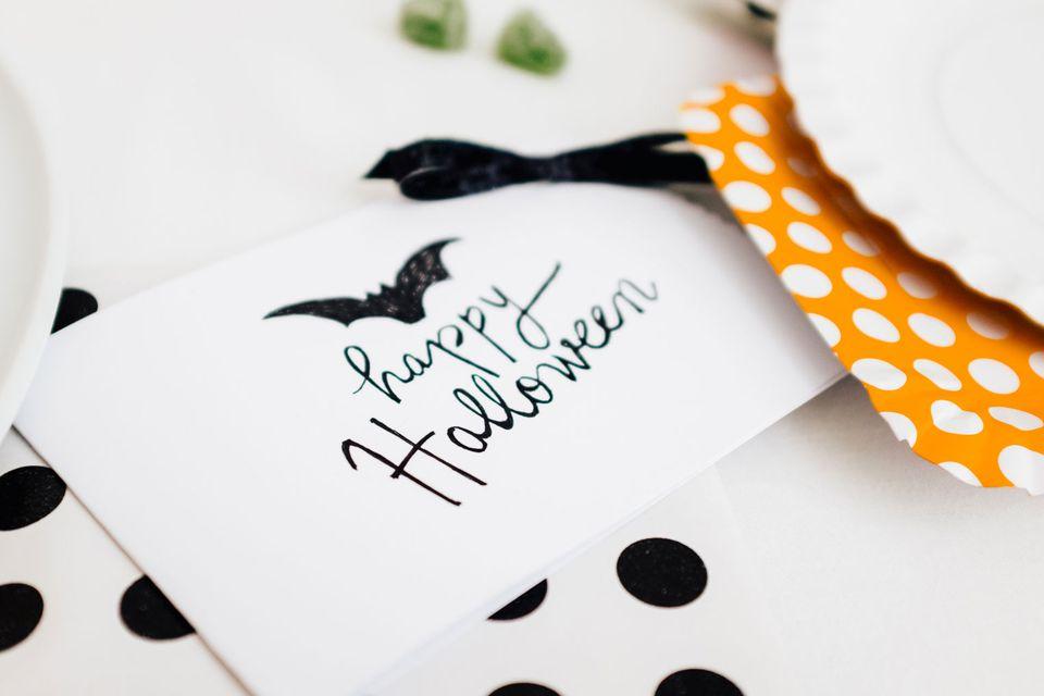 a halloween card