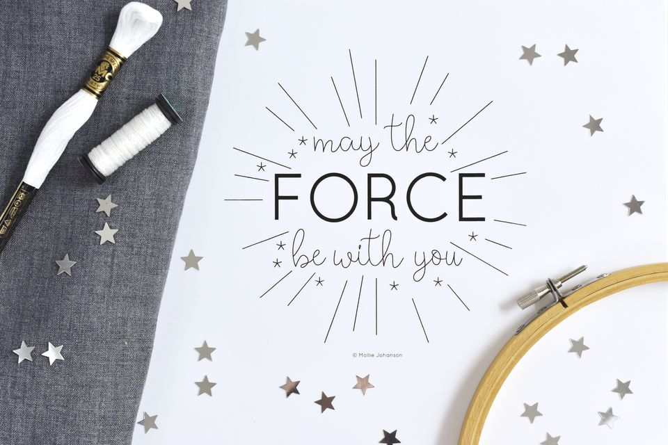 May the Force be With You Embroidery Pattern
