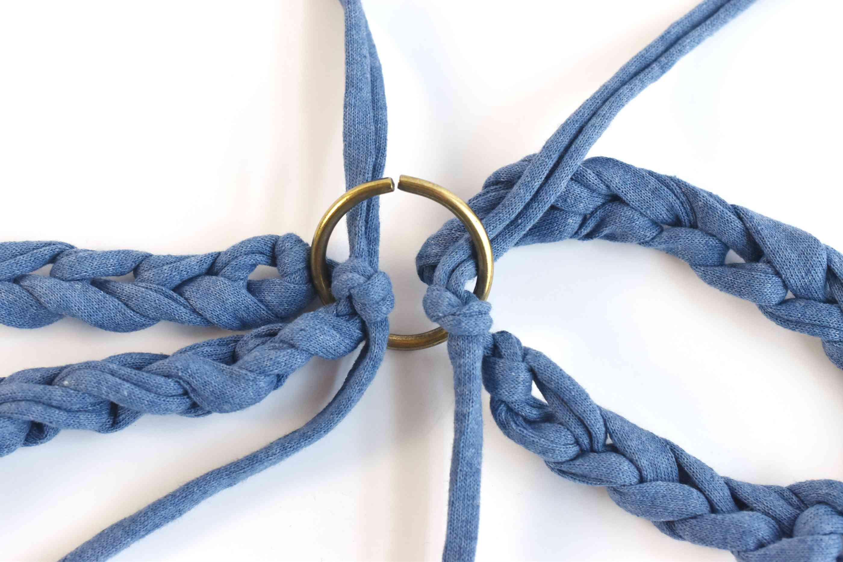 Tie the Ends of the Hanger to a Macrame Ring